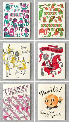 Hello! Lucky Letterpress Cards