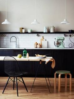 black cabinets, kitchen black, black white, black kitchens, kitchen cupboards, subway tiles, marble and black kitchen, wood white black, white kitchens