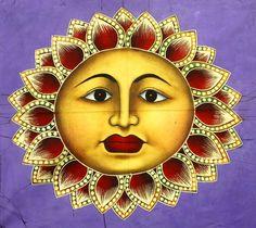 Folk Art Sun Image.
