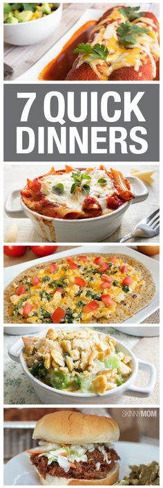 Great dinners for when you are in a hurry!
