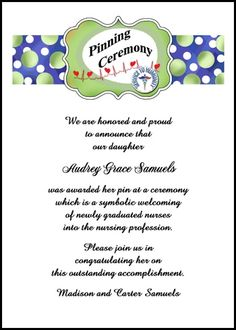 find unique one-of-a-kind nurse invitation designs for pinning ceremony and school announcements for nursing commencement at InvitationsByU, card number 7617IBU-NR, with lots of discounts and promos