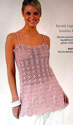 Pink Fantasy Top free crochet graph pattern