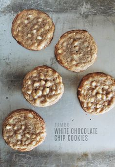 Jumbo White Chocolate Chip Cookies - Recipe from Almost Makes Perfect