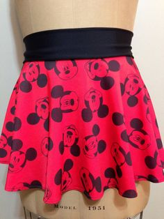 MOUSE MADNESS - Red! Super Cool Costume Running Skirt!  Perfect for your upcoming Disney race or fun themed race!
