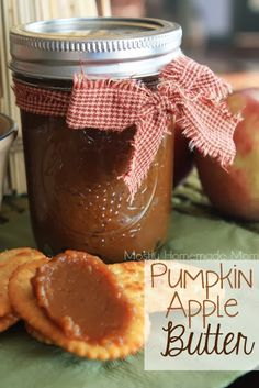 Got canned pumpkin leftover from fall? Add to it an apple, apple juice brown sugar, and spices for easy stovetop Pumpkin Apple Butter! Great on toast in the AM!