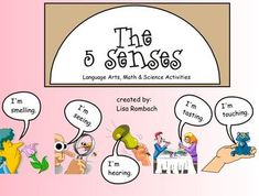 Smartboard lesson on the five senses.  Includes a graphing activity for each sense.  (.notebook file) $