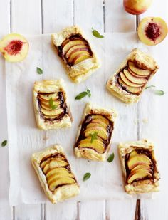 peach french mini tarts