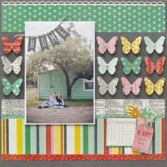 #papercraft #scrapbook #layout.  From Me to You Layout