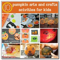 10 pumpkin arts and crafts activities for kids from Gift of Curiosity