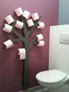 Toilet paper tree.  This is funny!