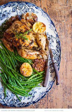 Roast Chicken with Garlic, Lemon & Thyme