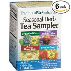 Traditional Medicinals Seasonal Herb Tea Sampler. This tea is so potent, it can cure anything!