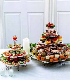 Tea sandwiches and veggie appetizers -- perfect for your garden party :)