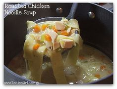 Low fat Roasted Chicken Noodle Soup