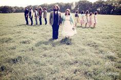 wedding party / bride and groom