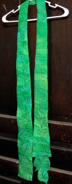 Clergy Stole Green with Leaves for Ordinary Time by CarolineSallen