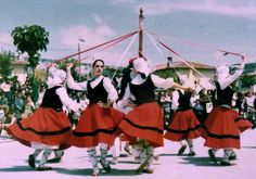 zintadantza- My Amuma used to tell stories of these basque May pole dances!