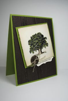 nice people STAMP!: Take 2: Lovely As a Tree for Father's Day