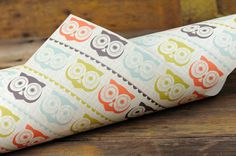 Gift Wrap Paper Retro Owl  Wrapping Paper Vintage by ruffhouseart, $6.50