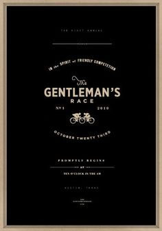 Gentleman's Race  #business #businesscards #promos #identity #packaging #branding #brand #logo #artdirection #font #typography #iconography #stationary