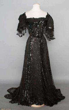 Sequined Belle Epoque Gown, circa 1904, via Augusta Auctions.