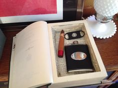 Make a Secret Book Box >> http://blog.diynetwork.com/maderemade/how-to/make-a-hollow-book-box?soc=pinterest