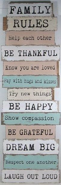 hous rule, shabby chic, house rules, vintage furniture, famili rule, homes, families, old pallets, family rules