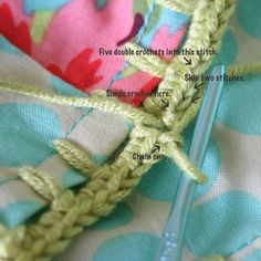 Making a Pillow Case with a crochet edging - Part 3 Crochet Like Crazy...