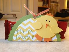 treats, easter chick, card 2014, treat holder, stamps, chick treat, paper project, stamp card, art craft