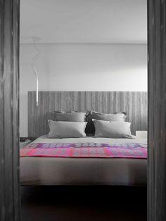 #bedroom #headboard #wood #pink