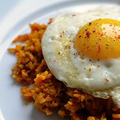 Sweet Potato Hash (with Fried Eggs!)   from Nom Nom Paleo