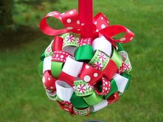 christmas ribbon ornament