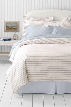 5-oz Yarn Dyed Stripe Duvet Cover or Sham from Lands' End