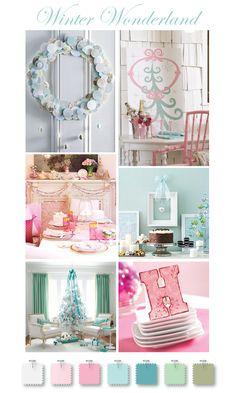 christmas colors, christma decor, pastel inspir, turquois christma