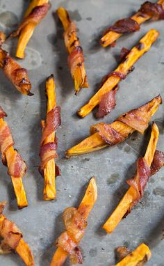Sweet Potato Fries Wrapped in #Bacon | spicy southern kitchen