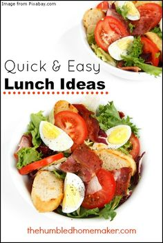 Quick & Easy Lunch Ideas {Real Food, Fast} - The Humbled Homemaker