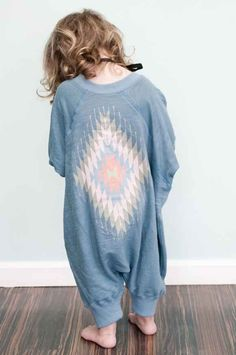 Wow! I wan to make this! Aztec Sweatshirt Romper   34 Gifts For The Coolest Baby You Know