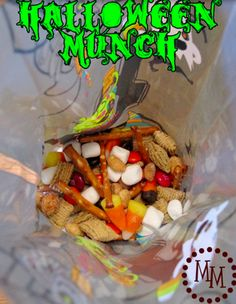 Halloween Munch -- fun twist on candy for trick or treaters or for a fun Halloween party?
