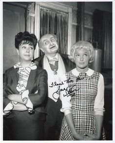 The Munsters RARE Signed Jane Withers Photo Child Star Al Lewis TV Classic