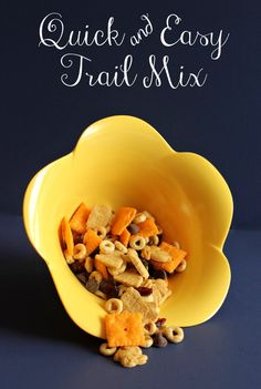 Simple trail mix to make egg hunts more fun, and cut down on some of the candy in our Easter baskets!