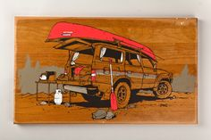 Tanner Goods auto art, haynesartworkjpg 900601, car art, adam hayn, illustr