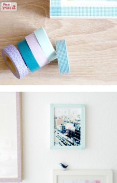 Makeover picture frames with washi tape