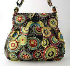striking multicolor circles tote messenger bag diaper by daphnenen