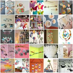 Bunch of cute DIY baby mobiles @http://blogs.babble.com/babys-first-year-blog/2011/08/16/25-free-diy-baby-mobile-tutorials/?pid=1224#slideshow