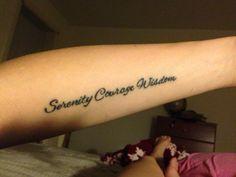 My Serenity Prayer tattoo - LOVE!