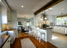 Create an Open Kitchen and Dining Area | SoPo Cottage featured on Remodelaholic.com #openkitchen #renovation #newenglander
