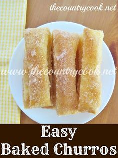 The Country Cook: Easy Baked Churros {no frying or messy dough to deal with - just a flaky, tender, sweet churro!}