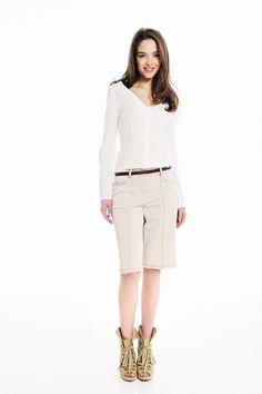 Gene, Camille Beige Bermuda Pants  http://www.fashiondays.bg/product/gene-camille-beige-bermuda-pants-371734/