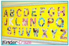 alphabet wall bulletin board