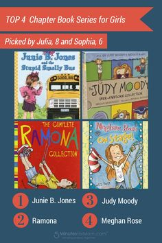 Top 4 Chapter Book Series for Girls
